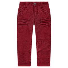 Pantalón recto de pana