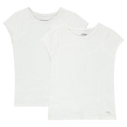 Lote de 2 camisetas manga corta camisetas interiores