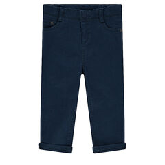 Pantalón slim de tela lisa