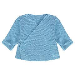 Camisita para recién nacido de punto con etiqueta de tela
