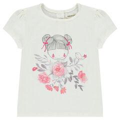 Camiseta de manga corta con estampado de muñeca
