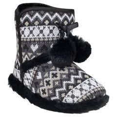 Zapatillas de punto con fantasía con pompones