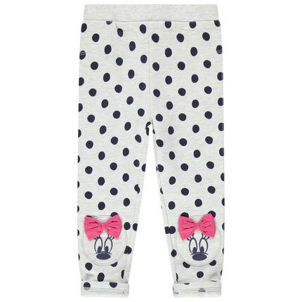 Leggings jaspeados con lunares all over y estampados Minnie Disney