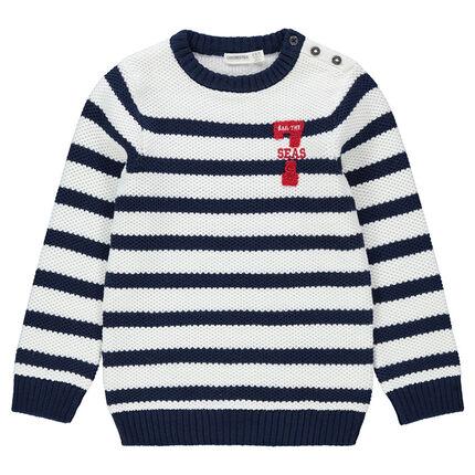Jersey de punto de estilo marinera con número de rizo