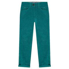 Pantalón de terciopelo corto liso