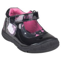 Zapatos merceditas Hello Kitty de color negro