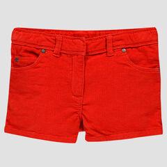 Short de terciopelo milrayas rojo