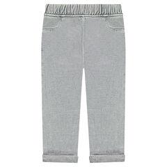 Pantalón de chándal sobreteñido de felpa