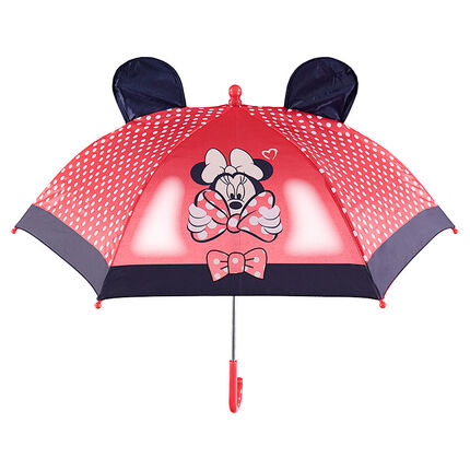 Paraguas Minnie ©Disney con lunares estampados y orejas de relieve