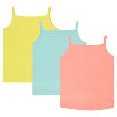 Pack de 3 camisetas lisas sin mangas de punto