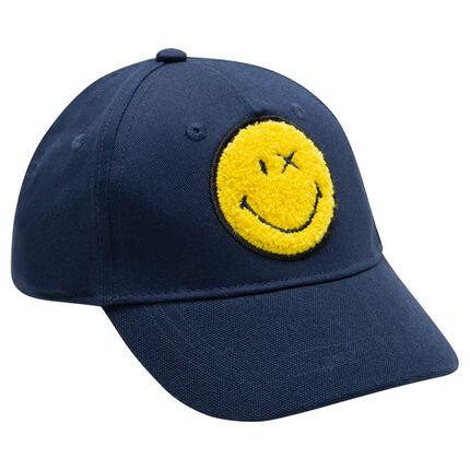 Gorra de sarga con ©Smiley de rizo