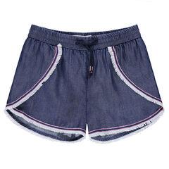 Pantalón corto de cambray con acabados con flecos