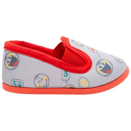 Zapatillas bajas elásticas con estampados Smiley