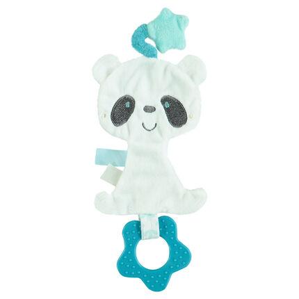 Anillo con panda de terciopelo