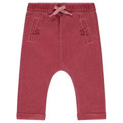 Pantalón de algodón de fantasía teñido con bolsillos ribeteados