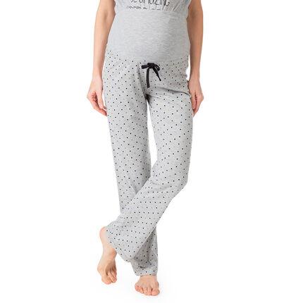 Pantalón homewear de embarazada estampado all-over