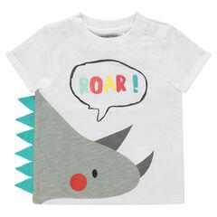 Camiseta de algodón ecológico con dibujo de fantasía estampado