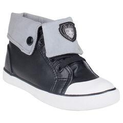 Zapatillas de deporte de caña alta con pliegue de tela