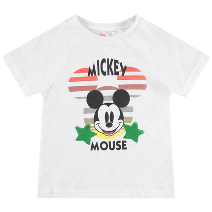 Camiseta de manga corta de punto con Mickey Disney de lentejuelas mágicas