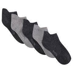 Juego de 5 pares de calcetines cortos.