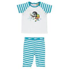 Pijama corto de punto con estampado Sammy & Co