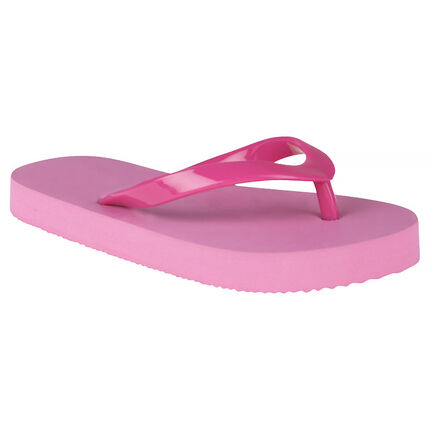Chanclas de color fucsia y rosa