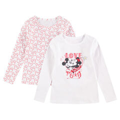 Juego de 2 camisetas interiores de punto de manga larga Mickey & Minnie ©Disney