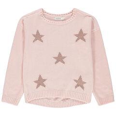 Jersey de oruga con estrellas de jacquard