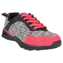 Zapatillas de deporte de caña baja bicolor con estampado con fantasía