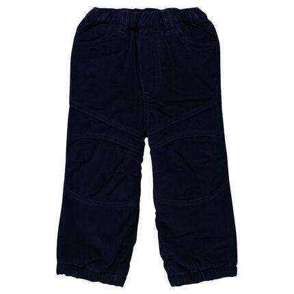 Pantalón de terciopelo milrayas con forro de polar