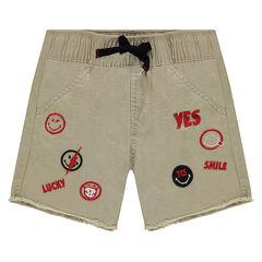 Pantalón corto de sarga con parches ©Smiley
