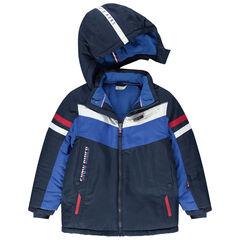 Júnior - Cazadora de esquí impermeable con bolsillos con cremallera y forro de micropolar
