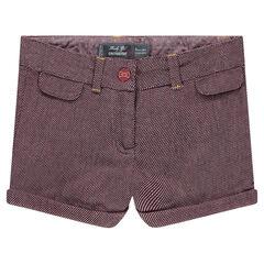 Pantalón corto de jacquard de fantasía