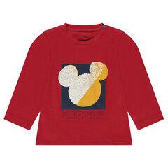 Camiseta de algodón de fantasía con estampado Disney perfil Mickey