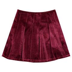 Falda plisadas de terciopelo