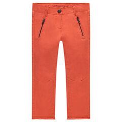 Pantalón skinny de sarga lisa
