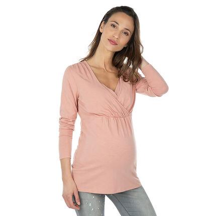 Camiseta de manga larga para embarazo y lactancia.