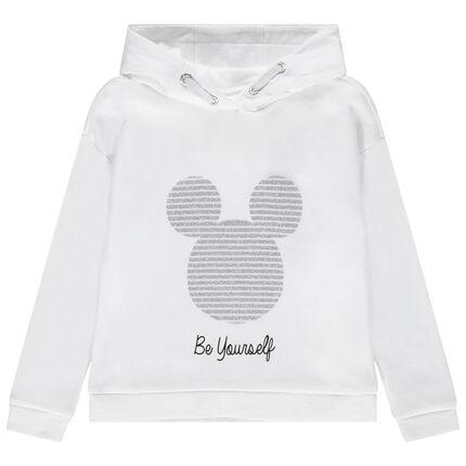 Sudadera de felpa con capucha con estampado de Mickey brillante