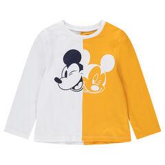 Camiseta de manga larga de punto bicolor con estampado de ©Disney Mickey