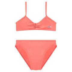 Bikini liso con logo estampado