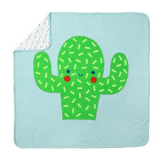Manta de punto con motivo/estampado con peluche de cactus