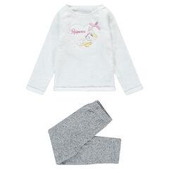 """Pijama con parte superior de borreguito y parche de """"Enredados"""""""