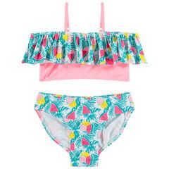Bikini con estampado tropical