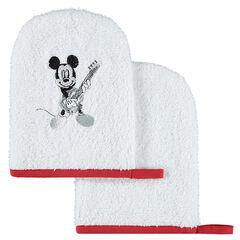 Juego de 2 manoplas de baño de rizo Disney con dibujo de Minnie