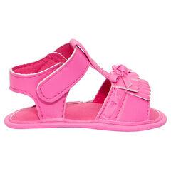 Sandalias rosa fosforescente