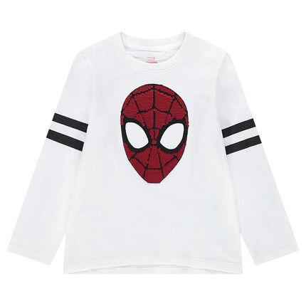 Camiseta de manga larga de punto con ©Marvel Spiderman de lentejuelas mágicas