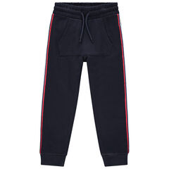 Pantalon de jogging en molleton à bandes contrastées pour enfant garçon , Orchestra