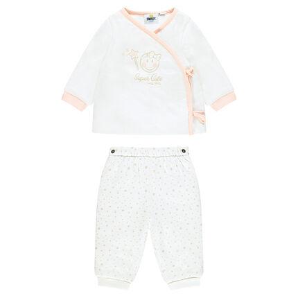 Conjunto para recién nacido de camisita y pantalón con ©Smiley baby