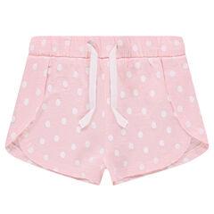 Pantalón corto de punto con cortes y estampado all over