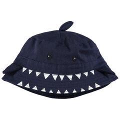 Bob de tiburón de sarga con aletas de relieve